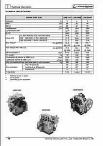 Lombardini Chd Series Engine Workshop Service Repair