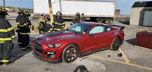Dearborn Fire Crews Cut Up A Ford Mustang Shelby GT500 For Training | Carscoops