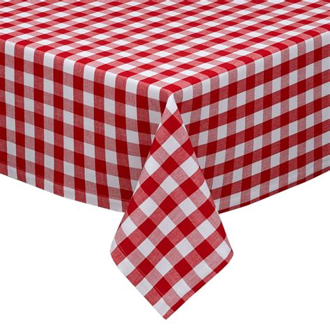 and white checkered tablecloth classic red and white 1 quot gingham check cotton tablecloth 60 quot x 84 quot ebay