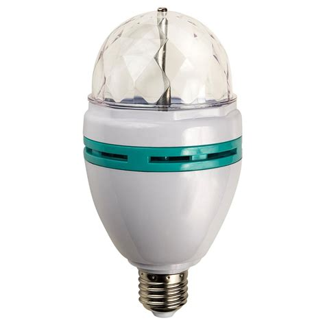 led party light bulb paradise 20w equivalent multi color rotating led party