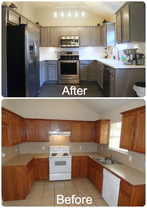 pictures of kitchen cabinets painted gray the duffle family diy kitchen makeover