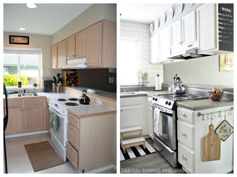 Small Kitchen Makeovers : Small Kitchen Remodel With A Modern Farmhouse Style