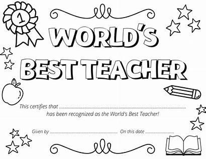 Teacher Coloring Appreciation Certificate Printable Elsa Sheet