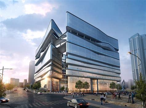 modern buildings greenland group chengdu east village cbed plots proposal aedas archdaily