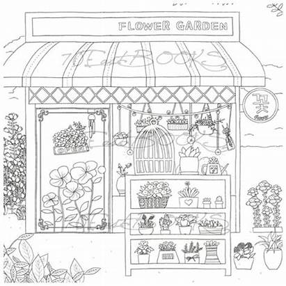 Coloring Colouring Pages Adult Bakery Coffee Flower