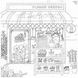Coloring Colouring Pages Adult Bakery Coffee Flower Books Fantasy Shops Sheets Own Para Printable Cosmetic Decorate Colorir Drawings Sketch Colour sketch template