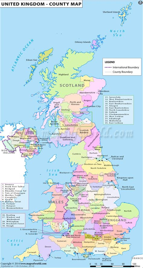 map   counties   united kingdom travel