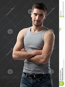 Cool Handsome Caucasian Man Stock Photo