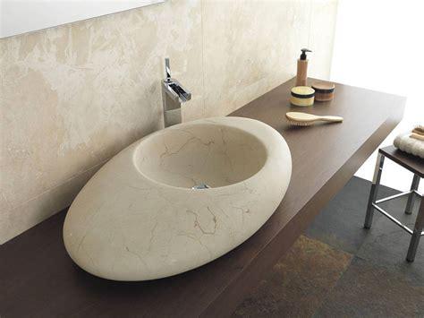 Vasca Da Bagno Da Appoggio 30 Modelli Di Lavabo Bagno In Pietra Da Appoggio