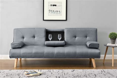 Grey Sofa by Modern Scandi Charcoal Grey Fabric Sofa Bed
