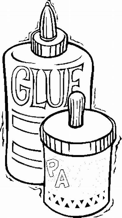 Coloring Supplies Pages Glue Paste Printable Things