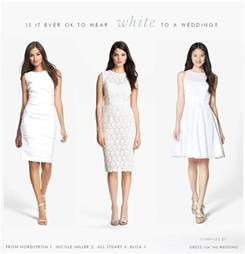what to wear at a wedding can i wear white to a wedding