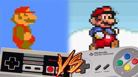 Nes Vs Super Nintendo Super Mario Bros Youtube