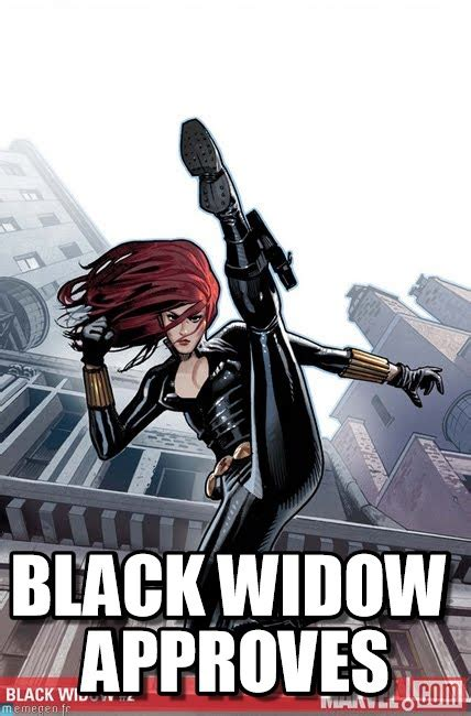 Black Widow Meme - black widow approves on memegen