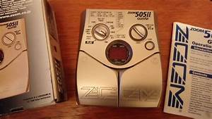 Zoom 505 Ii Guitar Multi Effects Fx Pedal With Manual