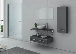 Meuble Salle De Bain Taupe : meuble salle de bain 1 vasque ref virtuose gris taupe ~ Dailycaller-alerts.com Idées de Décoration