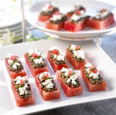 freeze ahead canapes recipes watermelon board watermelon canapes
