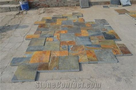 wellest rustic brownrusty brownmulti color slate pattern