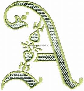 17 best images about le a on pinterest typography With letter embroidery machine