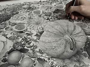 Millions of hand inked dots comprised this new stippled for Autumn stippling drawing xavier casalta