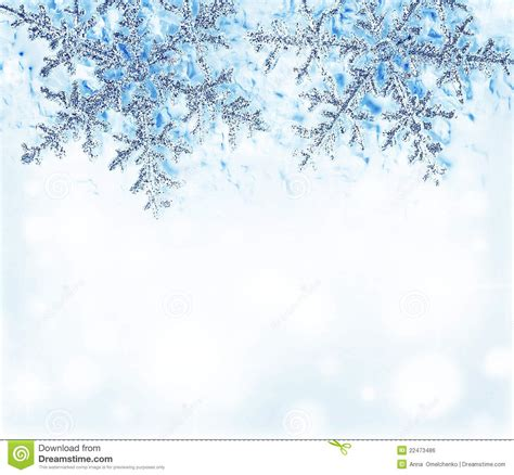 snowflake blue decorative border royalty  stock image