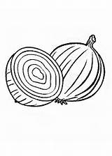 Coloring Pages Vegetables Onion Index Pepper Kidipage sketch template