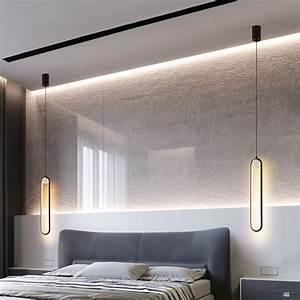 Nordic, Simple, Modern, Led, Hanging, Lights, Bedroom, Bedside, Lamps, Iron, Art, Line, Hanglamp, Living, Room
