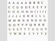 Alphabet Decal Ideal for glass fusing