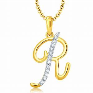Shopping for pissara letterquot rquot gold and rhodium plated for Letter pendant online