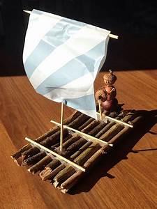 Schiff Basteln Holz : floss basteln ein floss aus sten zu basteln geht schnell und ist ganz einfach enkelkinder ~ Frokenaadalensverden.com Haus und Dekorationen