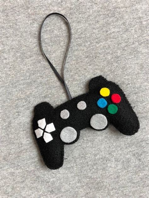 Video Game Controller In Black Felt Christmas Ornament