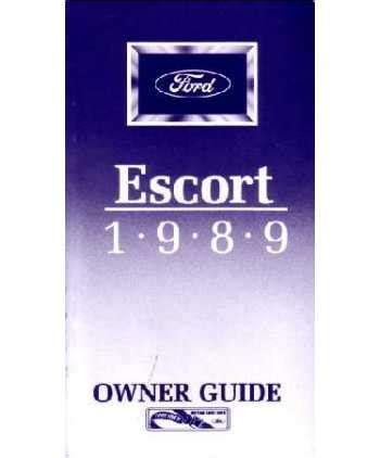 motor auto repair manual 1989 ford escort user handbook 1989 ford escort owners manual
