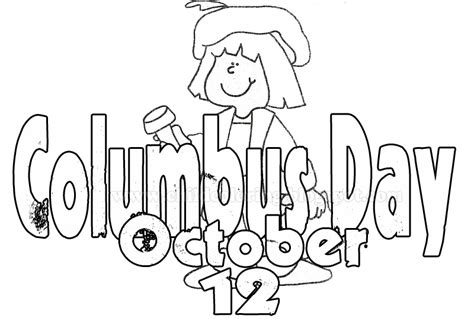 Columbus Day Coloring Pages Printable - Sanfranciscolife