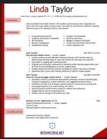 resume format sle pdf resume for teachers exles resume format download pdf