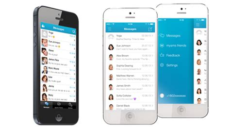 mysms iphone mysms messenger comes with a new ios 7 look mysms