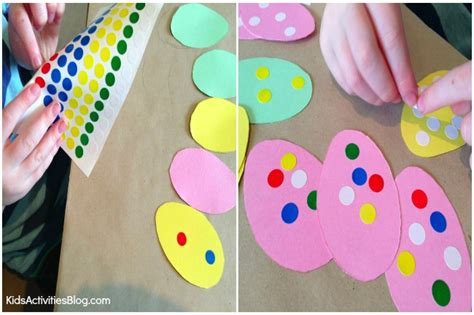 easter crafts for to make easter crafts for kids make a garland fine motor skills activity