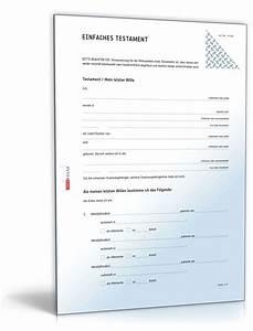 Generalvollmacht Ohne Notar : einfaches testament muster vorlage zum download ~ Frokenaadalensverden.com Haus und Dekorationen