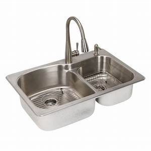 Glacier Bay All-in-One Dual Mount Stainless Steel 33 in 2