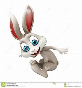 Jumping Rabbit Clipart - ClipartXtras