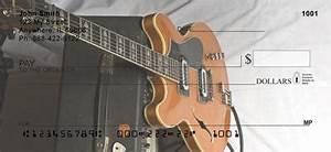 Electric Guitars Checks Electric Guitars Personal Checks