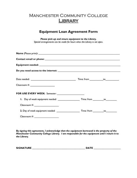 printable loan agreement form form generic