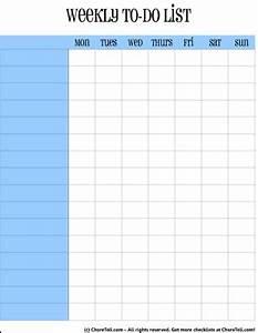 Blank Printable Calendars Simple Weekly To Do Lists Blue Orange Free Printable
