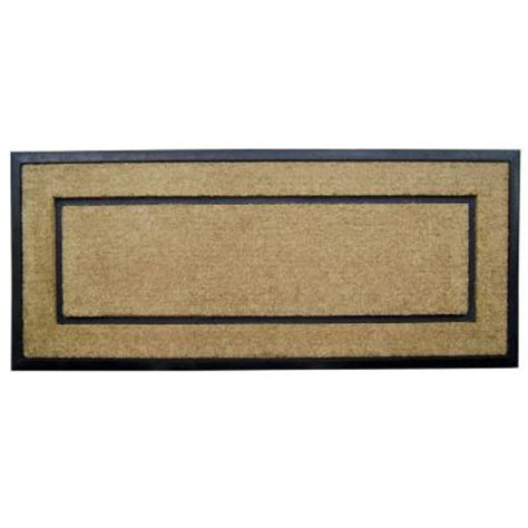 Doormat Frame by Creative Accents Dirtbuster Single Picture Frame Black 24