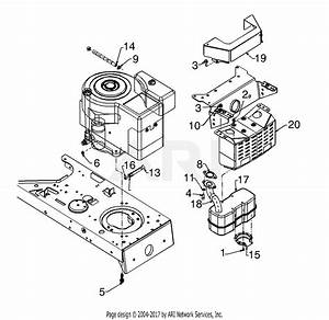 Mtd 13a4667f118  1998  Parts Diagram For Muffler  Tecumseh