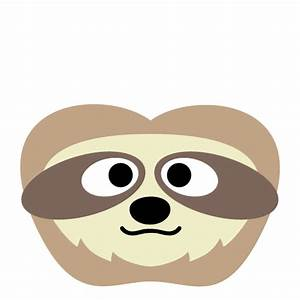 printable sloth mask With sloth mask template