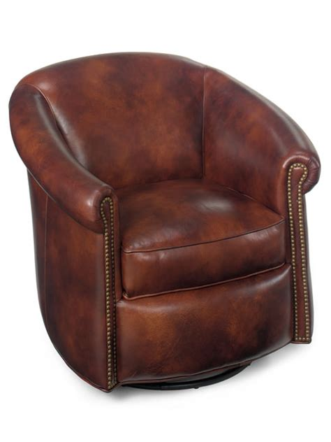 brown leather swivel chair quality leather swivel glider or chair 4940