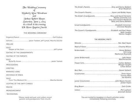 wedding templates programs response cards