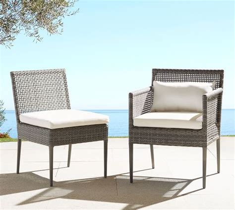 cammeray all weather wicker dining chairs pottery barn