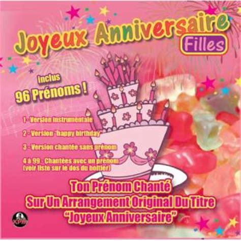joyeux anniversaire volume  filles ambiance cd