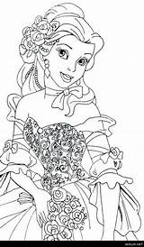 Belle Coloring Pages Princess Sweetie Disney Whitesbelfast Mlp Idea Popular Bella Printable sketch template